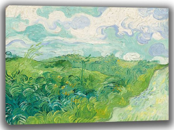 Van Gogh, Vincent: Green Wheat Fields, Auvers. Fine Art Canvas. Sizes: A4/A3/A2/A1 (003562)